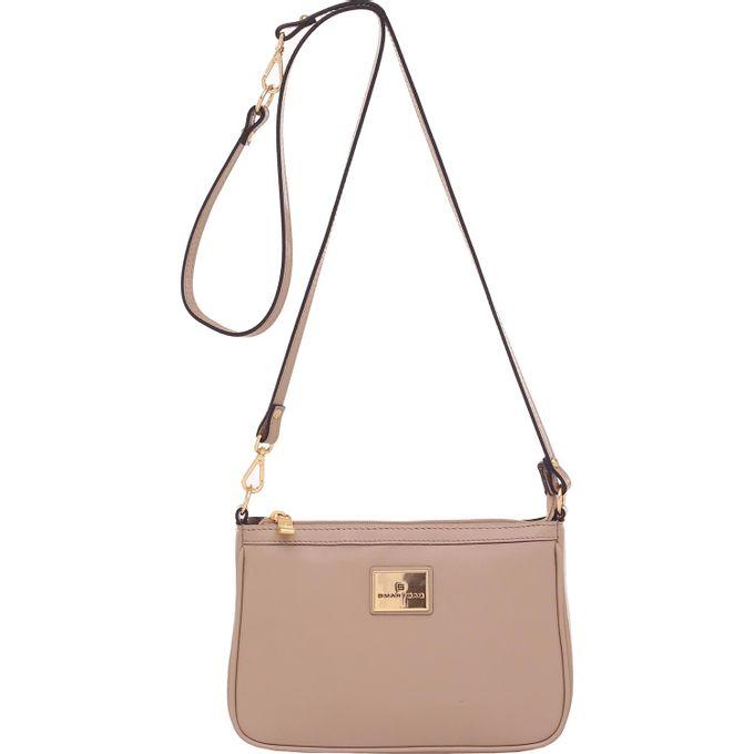 Bolsa Transversal Smartbag Couro Taupe - 79010.16 e4d18aad990