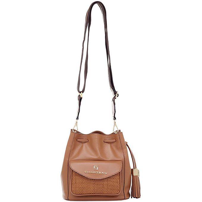 763631ae9 Bolsa Transversal Smartbag Couro/Tresse Caramelo - 76054.19 - Smartbag