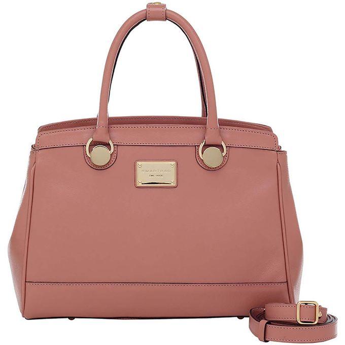 0d4e6eddae Bolsa Alça de Mão Smartbag Couro Rosê - 76035.19 - Smartbag