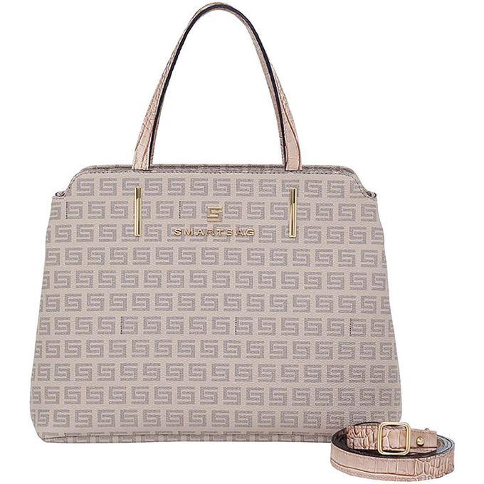 a73021ceb Bolsa Alça de Mão Smartbag Milano Nude Croco Bege - 86129.19