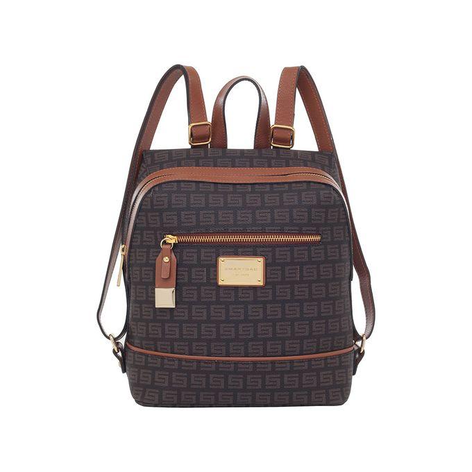 f3d4673c1 Mochila Smartbag Milano Chocolate Couro Caramelo - 86155.19