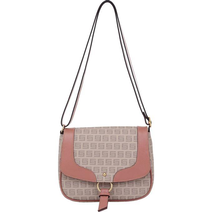 3d595a54d Bolsa Transversal Smartbag Milano Nude Couro Rosê - 86141.19