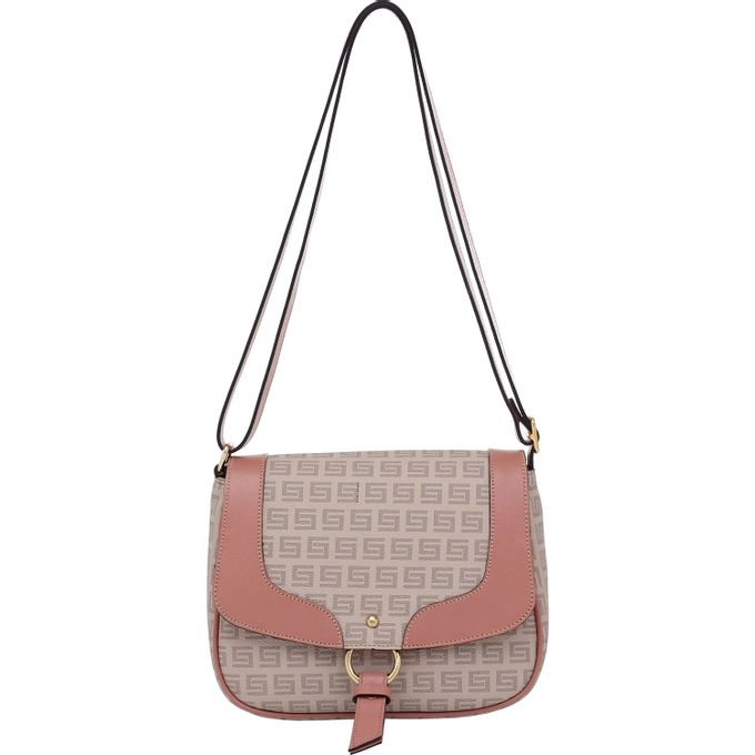 3cb248f70 Bolsa Transversal Smartbag Milano Nude Couro Rosê - 86141.19