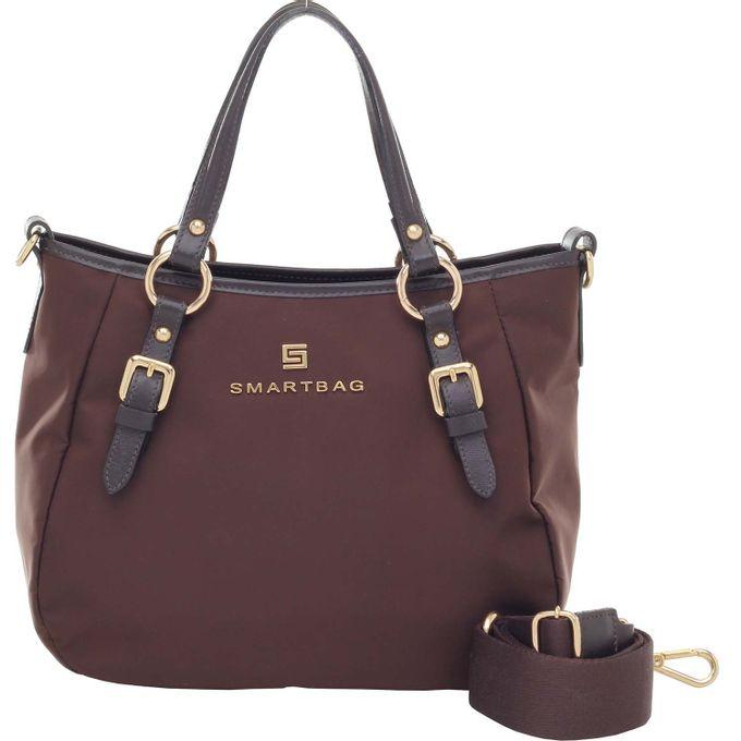 aea3ab9c1f Bolsa Smartbag Alça de Mão Nylon/Couro Preto - 88029.18 - Smartbag