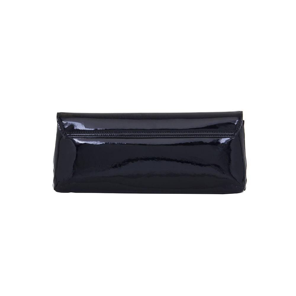 5d0712247c Bolsa Estilo Carteira Verniz Preto Smartbag - 74008 - Smartbag