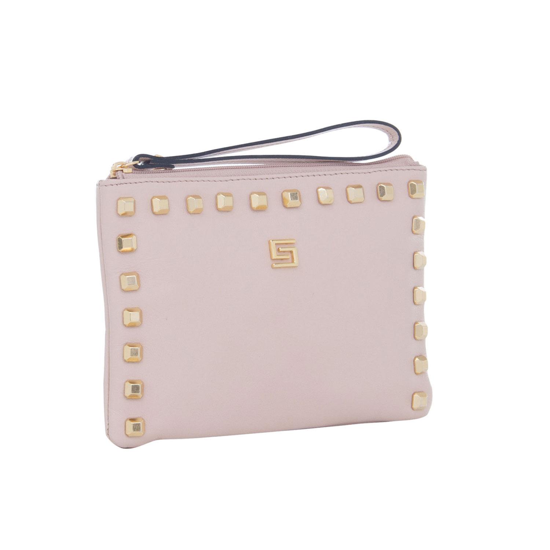 33caa0f639 Bolsa-Carteira Nude com Tachinhas Douradas Smartbag - 75125 - Smartbag