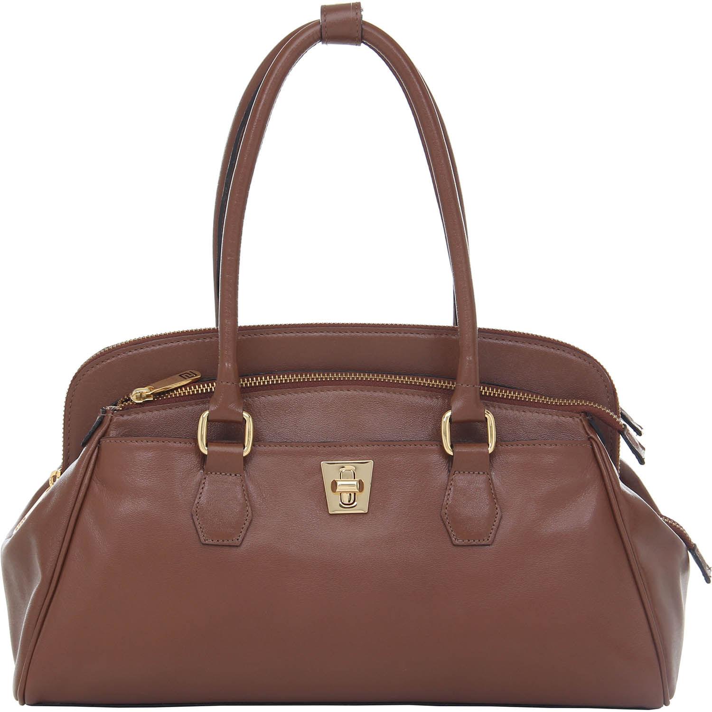 7cd4a7ce1 Bolsa Smartbag Couro Média Tabaco - 76085 - Smartbag