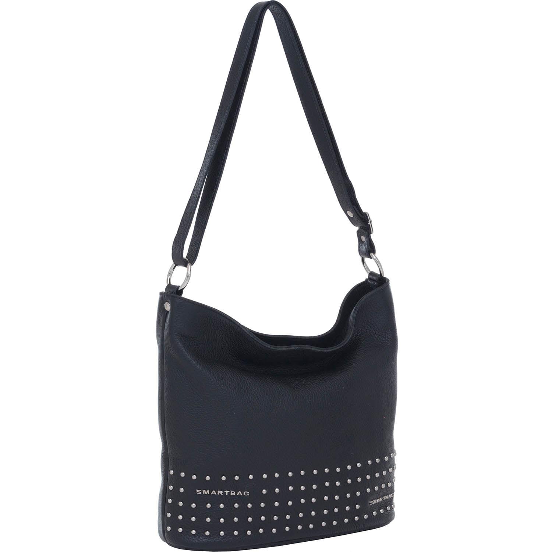 0c876948bf1c4 Bolsa Couro Transversal Média Preta Smartbag - 76046 - Smartbag