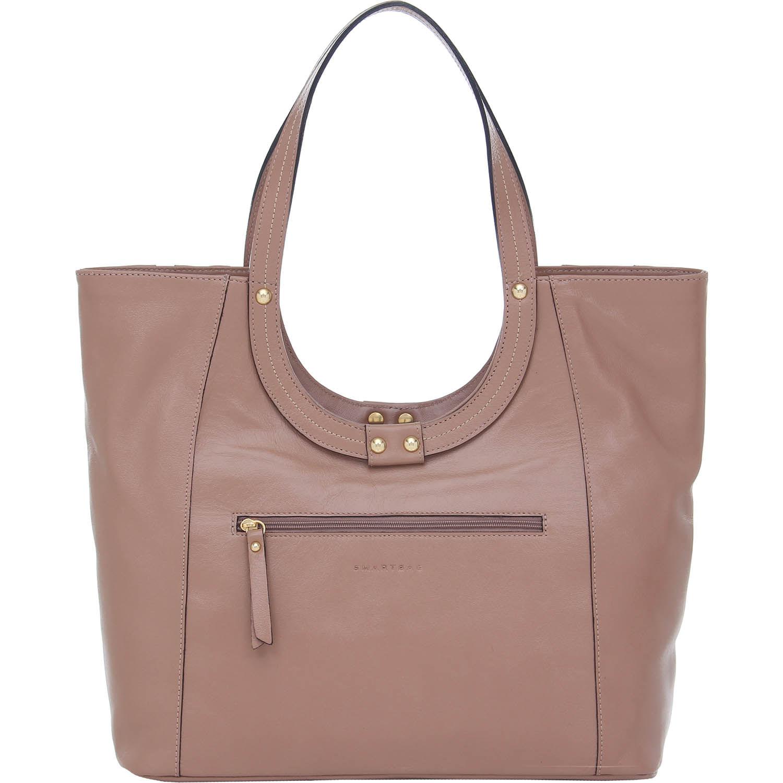 5e2268d9e Bolsa Couro Tiracolo Grande Na Cor Rosa Antique Smartbag - 76060. Previous. Loading  zoom