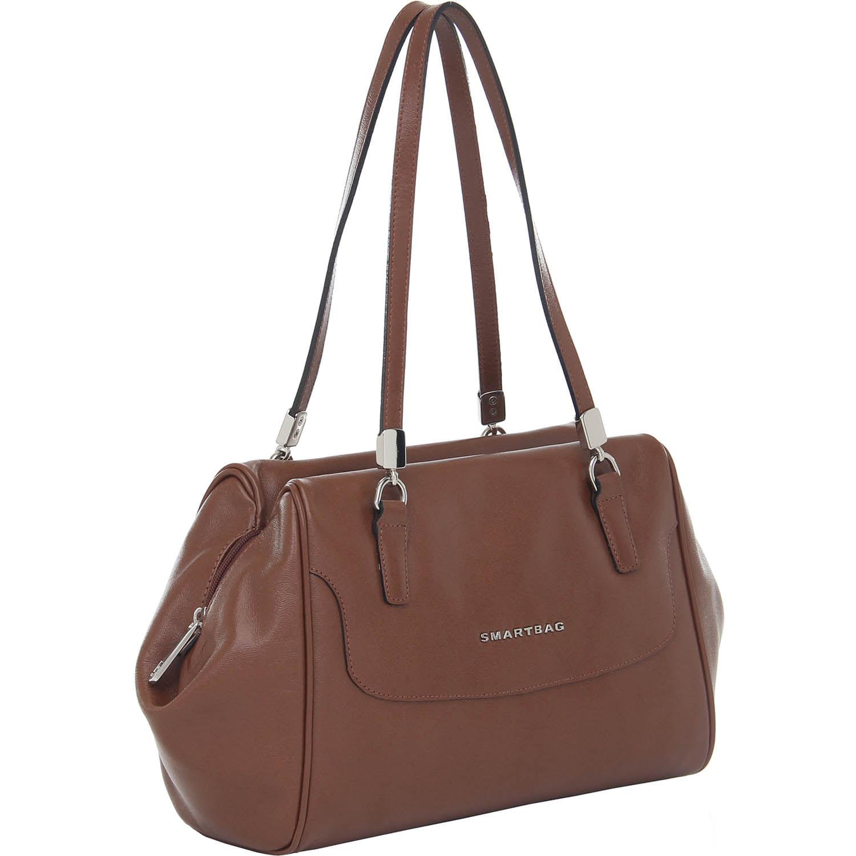 5b3d08e92 Bolsa Couro Tiracolo Grande Tabaco Smartbag - 76104 - Smartbag