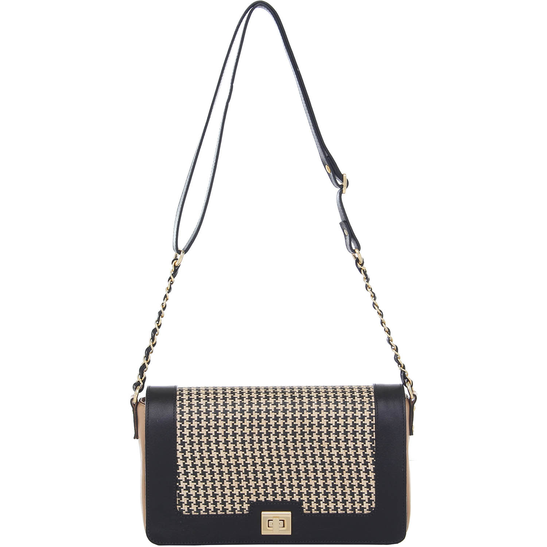 b7c614eea Bolsa Couro Transversal Média Preta e Bege Smartbag - 76031.14. Previous.  Loading zoom · Loading zoom