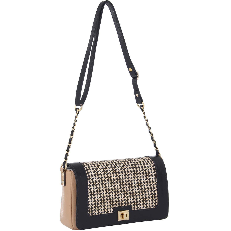 0c4a906f5 Bolsa Couro Transversal Média Preta e Bege Smartbag - 76031.14 ...