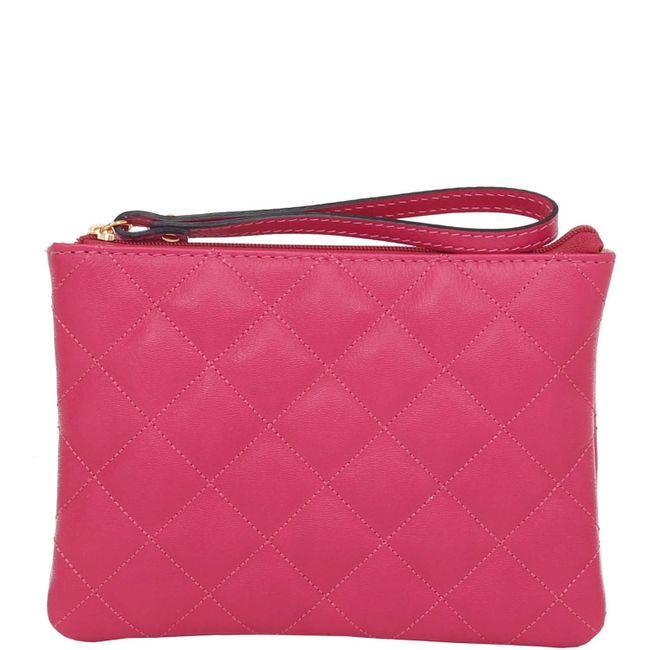 106f9d8eab Bolsinha com Alça de Mão Verniz Pink Smartbag - 77007 - Smartbag