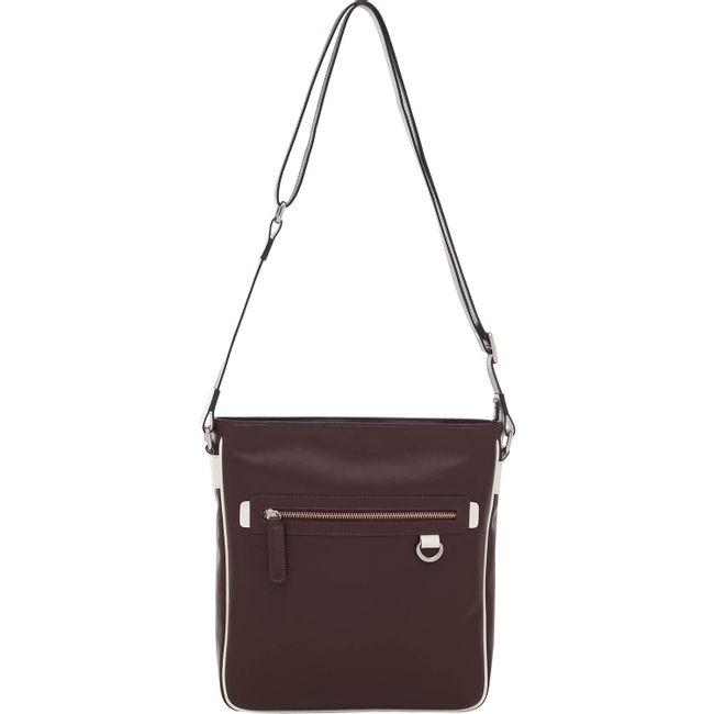 e83a7847c Bolsa Couro Transversal Chocolate/Off White Smartbag - 77044. Previous.  Loading zoom · Loading zoom