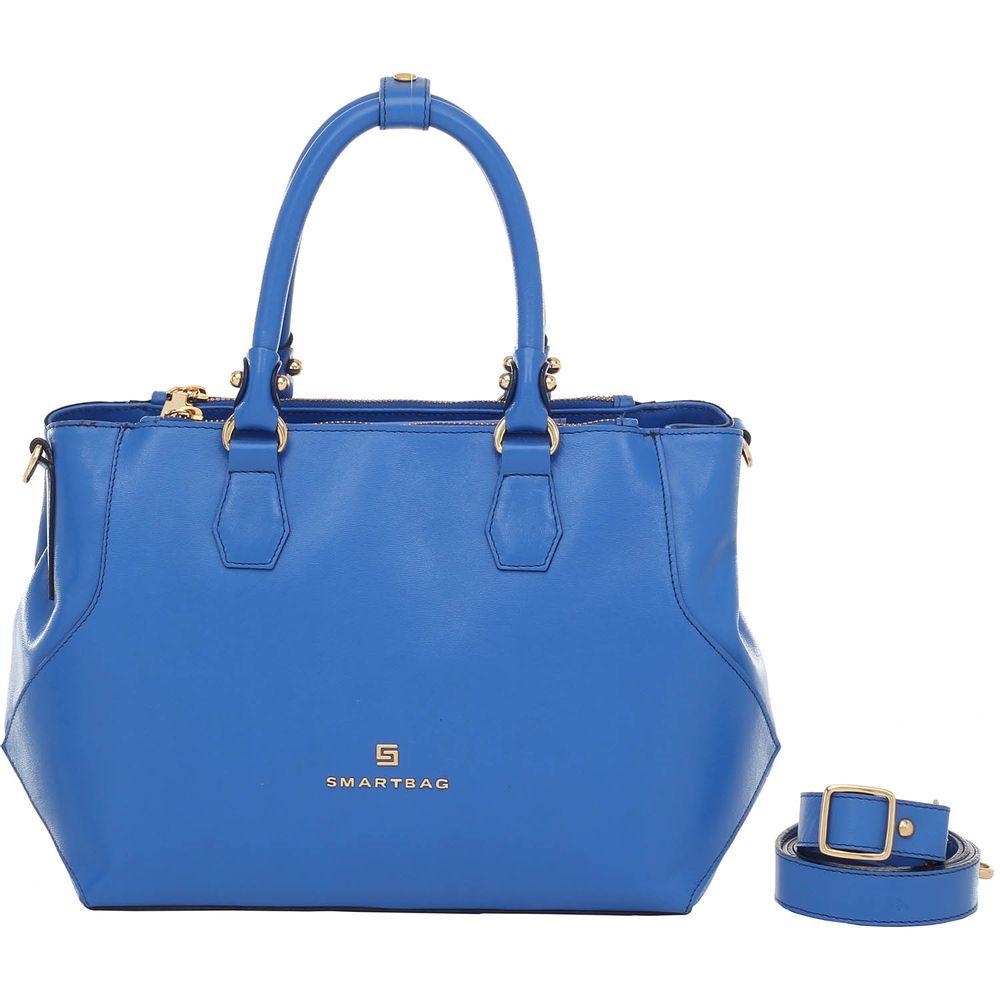 Bolsa De Mão Azul Royal : Bolsa couro de m?o royal smartbag