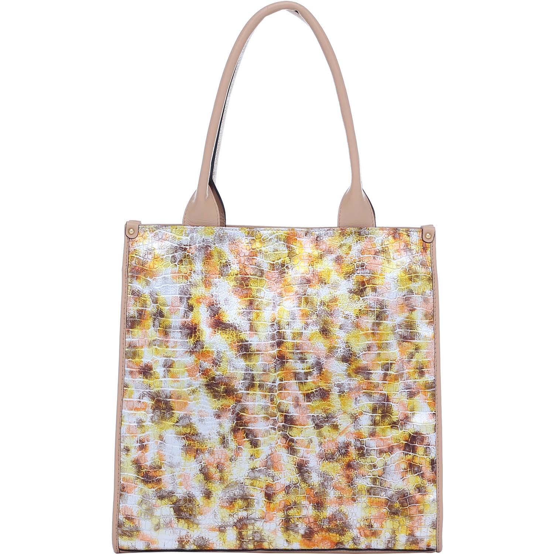 61808350c Bolsa Couro Alça De Mão Grande Bege/Amarelo Smartbag - 76096.14. Previous. Loading  zoom · Loading zoom