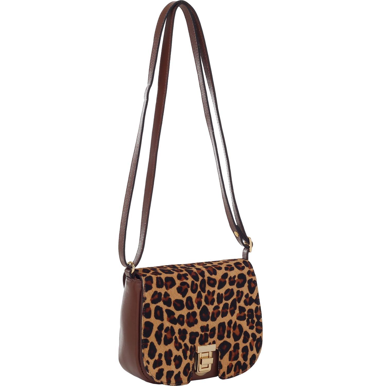 db4106ff4 Bolsa Couro Pequena Pelo Onça   Smartbag - Smartbag