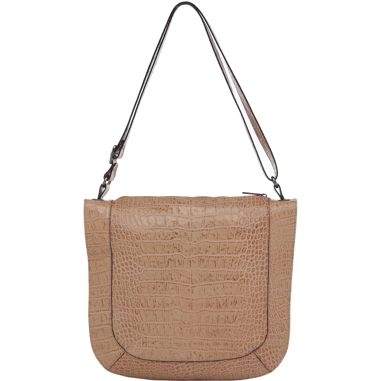 462d4f3f5 Bolsa Couro Grande Transversal Grande Bege Smartbag - 76094. Previous. Loading  zoom