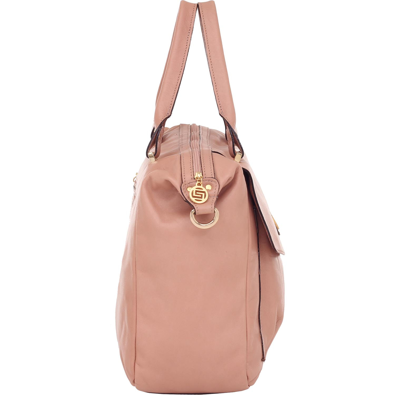 a0d1839d75 Bolsa Couro Smartbag Alça de Mão Rosa Antique - 74101 - Smartbag