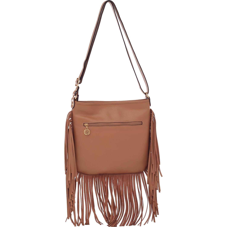 8cf4a3c73 Bolsa de Couro Franjas Camel - Smartbag