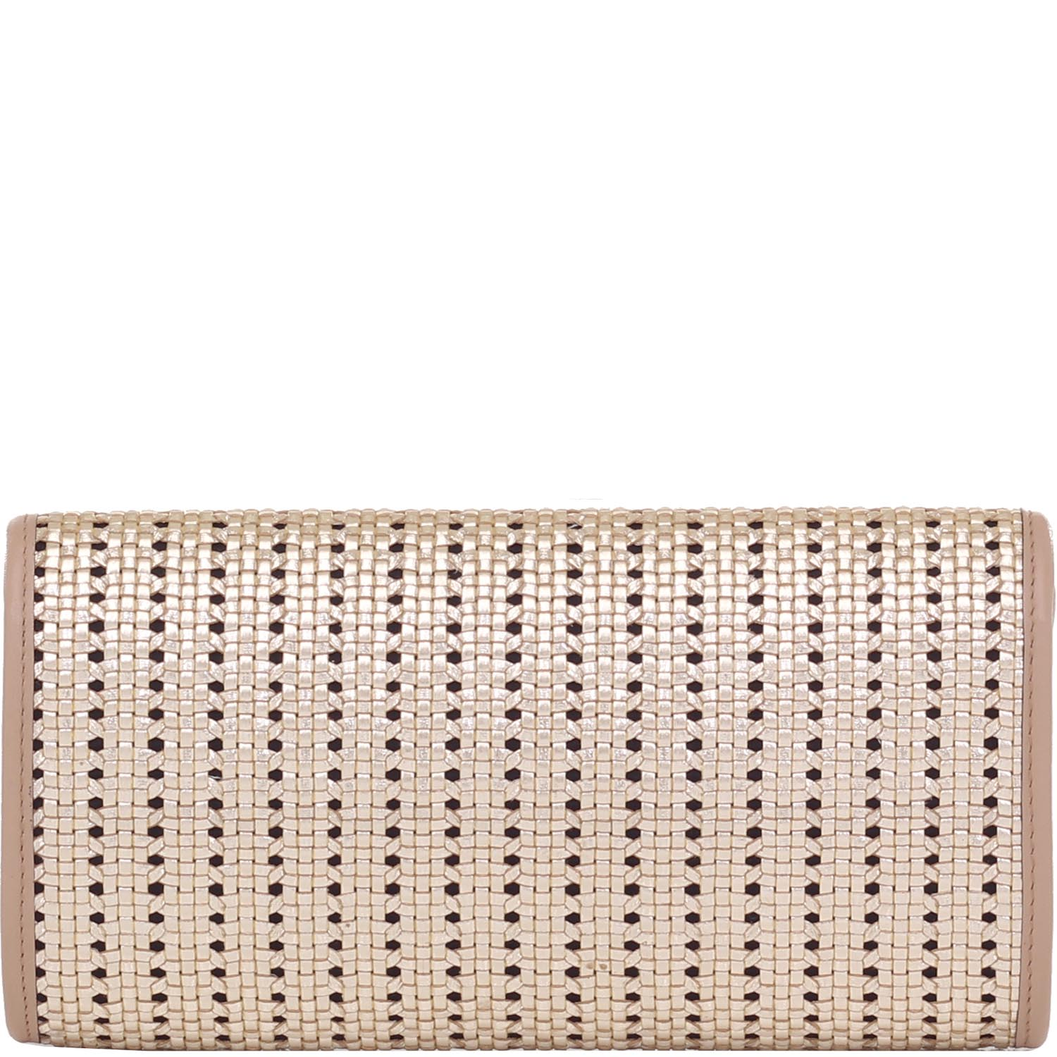 a5d6e15ba92 Clutch Smartbag Tressê Metalizado Prata Velha Taupe - 78015.15. Previous.  Loading zoom
