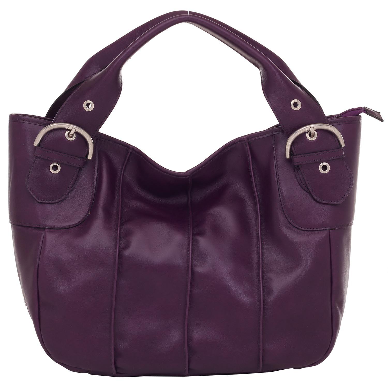 8c8dbbe7b8 Bolsa de Couro Tiracolo Roxo - Smartbag