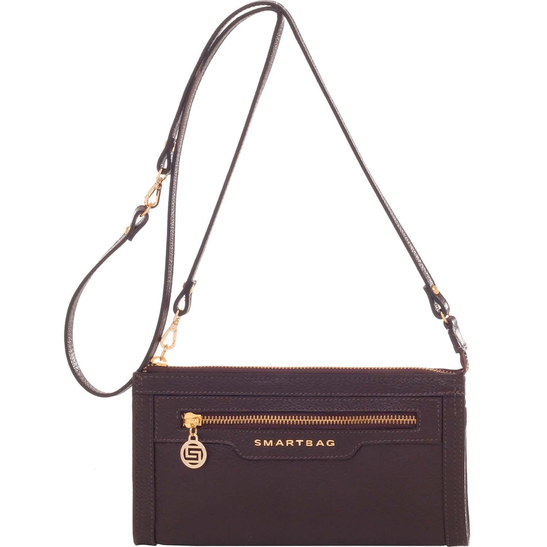 cbe954ed0 Bolsinha Smartbag Couro Chocolate - 71016.17. Previous. Loading zoom ·  Loading zoom