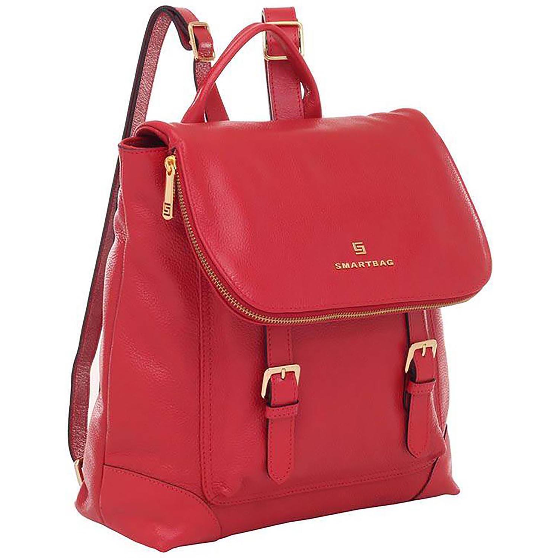 5100b77e8 Mochila Couro Vermelho - Smartbag