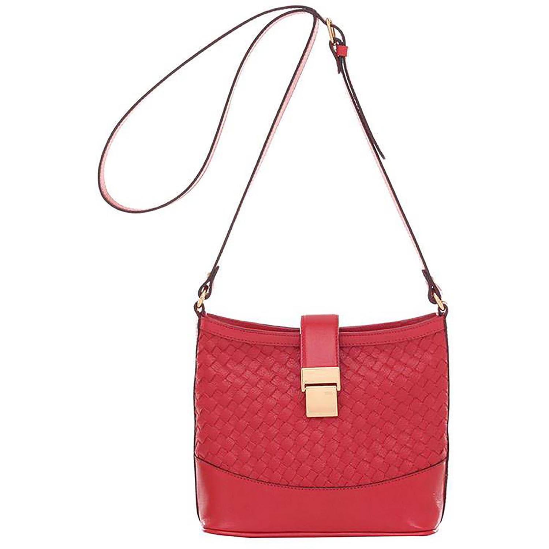 6230a9599 Bolsa Smartbag Couro Trançado Transversal Vermelho - 71108.17. Previous.  Loading zoom · Loading zoom