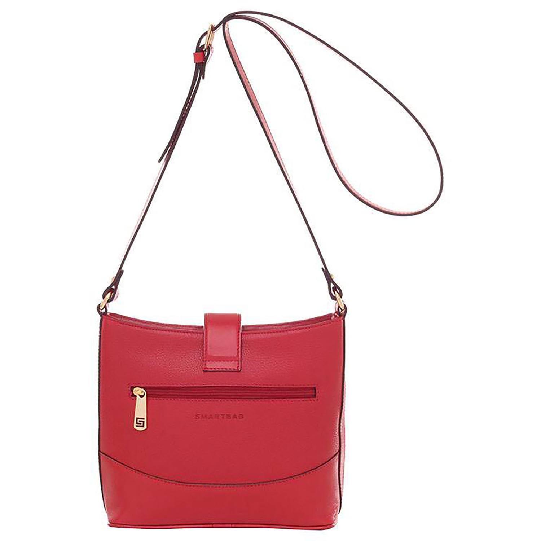 bfbd18dfd Bolsa Smartbag Couro Trançado Transversal Vermelho - 71108.17. Previous.  Loading zoom