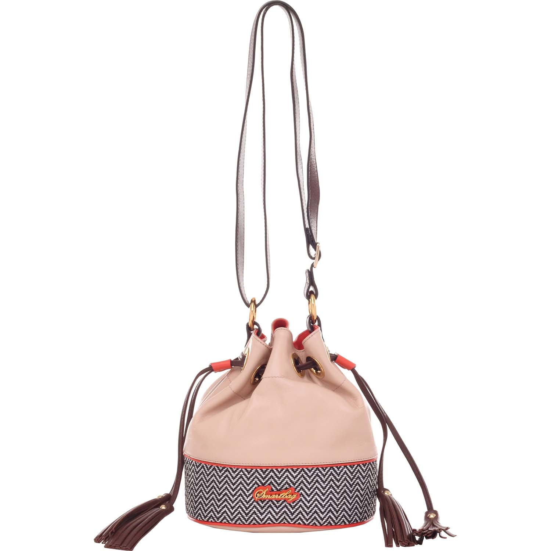 746bcb561 Bolsa Saco Transversal em Rafia Nude Coral - Smartbag
