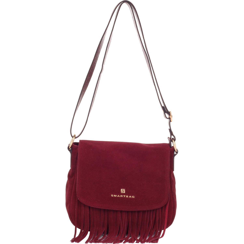 Bolsa de Couro Franja Bordô – - Smartbag 21c78425af2