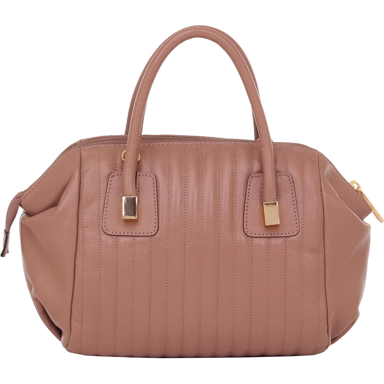 9113ec46b Bolsa Couro Pequena Alça De Mão Rosa Antique Smartbag - 76056. Previous.  Loading zoom