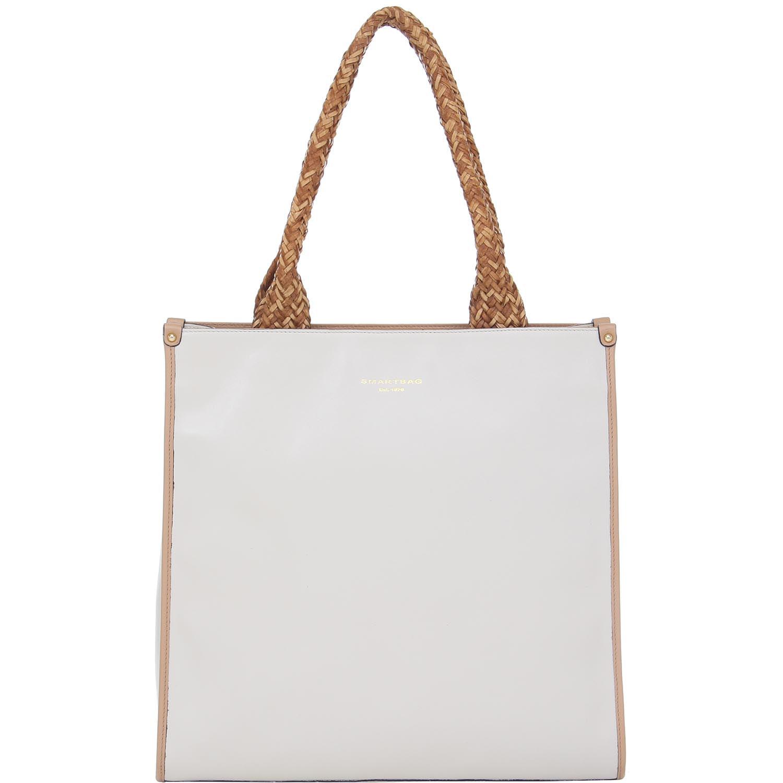 c705fb8e4 Bolsa Couro Grande Marfim Alça Trançada Smartbag - 76073. Previous. Loading  zoom · Loading zoom