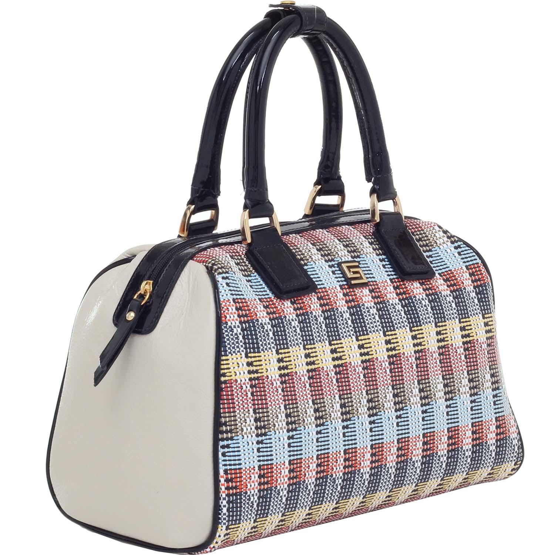 34158f41b Baú Couro Alça de Mão Ráfia Color – - Smartbag