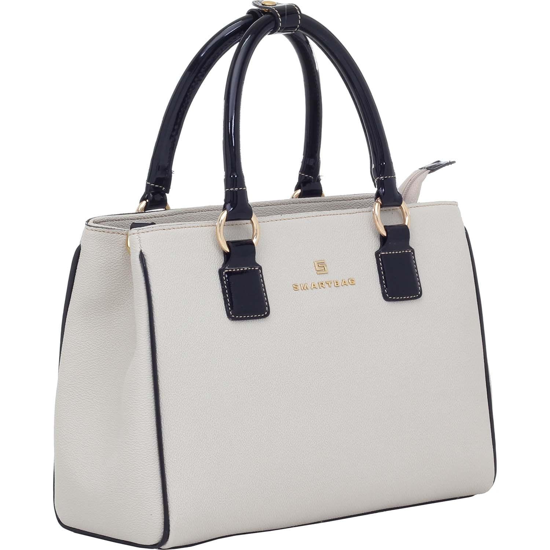 84bb92a3b Bolsa Tiracolo Verona Creme Verniz Lux Preto - Smartbag