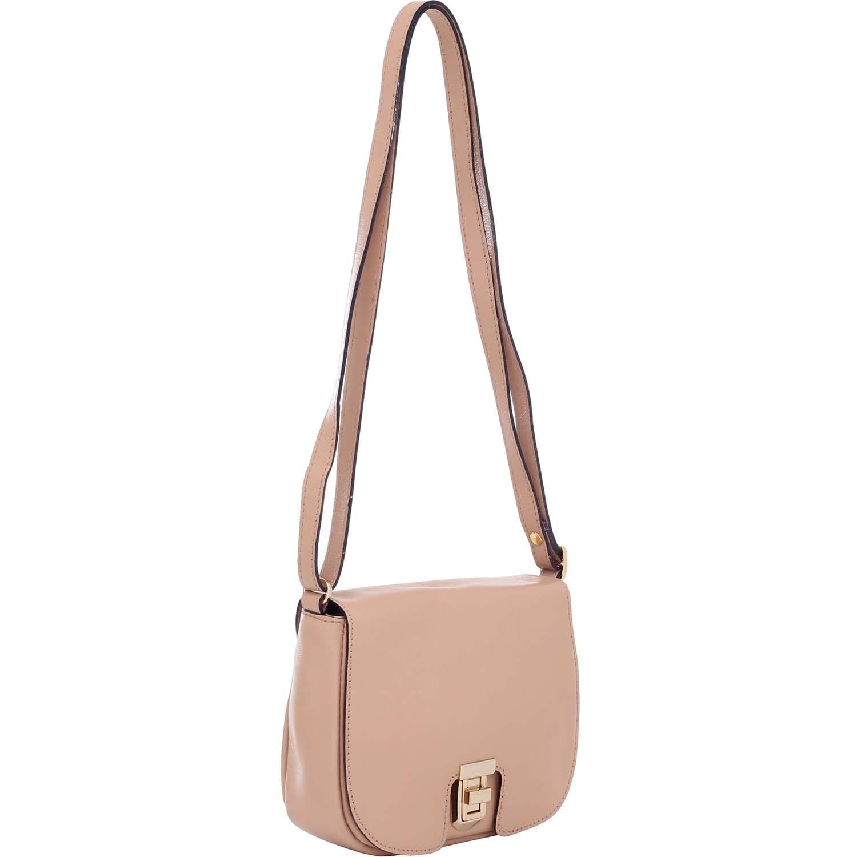 7bcbf4ecc4 Bolsa de Couro Pequena Bege - Smartbag