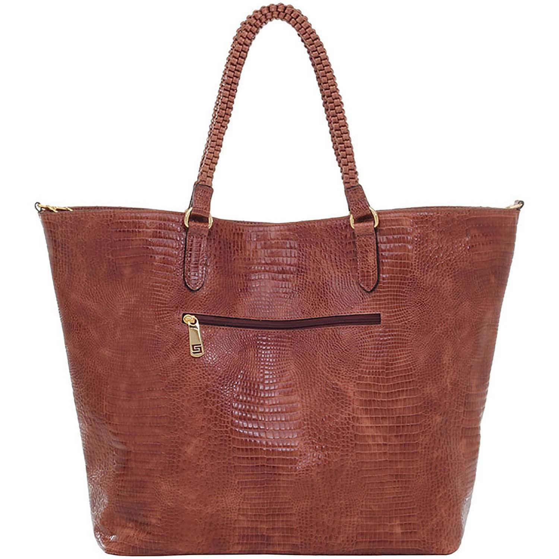 29c79e1fa3 Bolsa Sacola Smartbag Couro Lagarto Avelã - 73090.18 - Smartbag