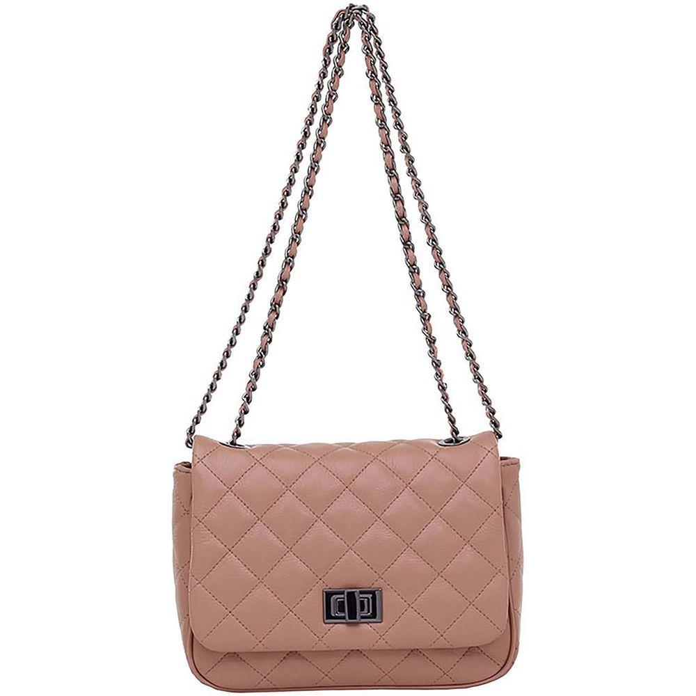 c6e828292 Bolsa Tiracolo Couro Blush Correntes - Smartbag