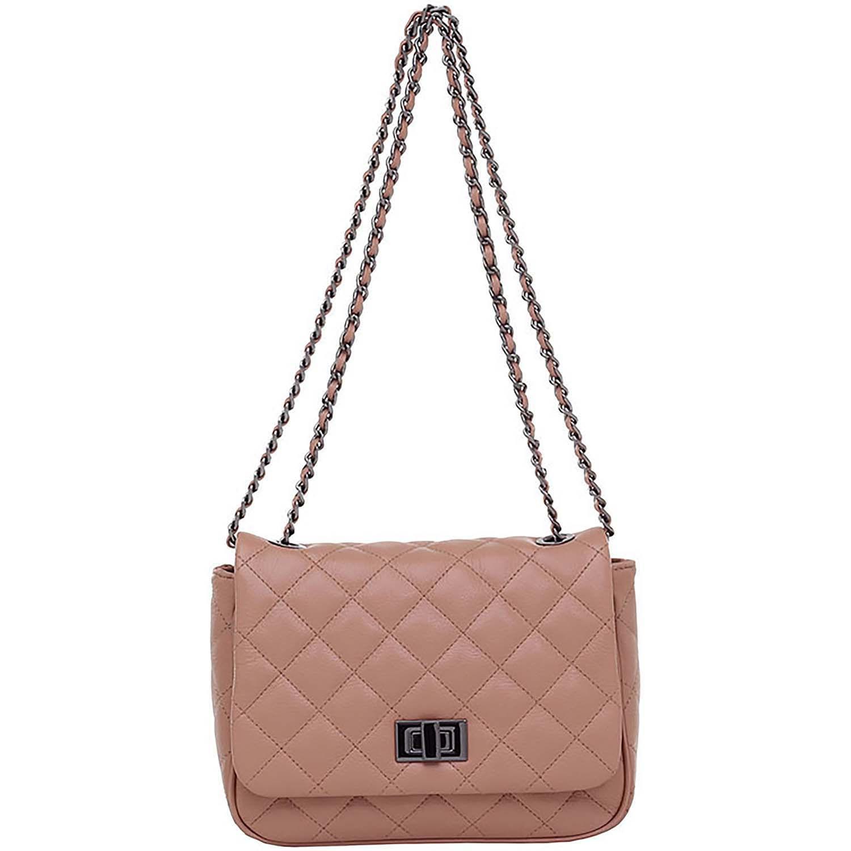 ac1e16a0b Bolsa Tiracolo Couro Blush Correntes - Smartbag
