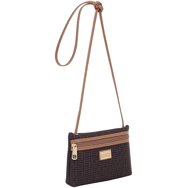235ef2341 Bolsa de couro feminina transversal Veneza Chocolate - Smartbag