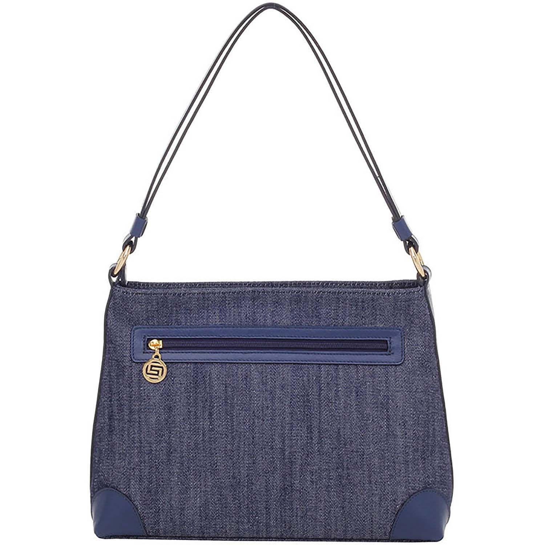 e12b56d5b Bolsa Smartbag Tiracolo Folhas Jeans/Couro Navy - 88039.18. Previous. Loading  zoom