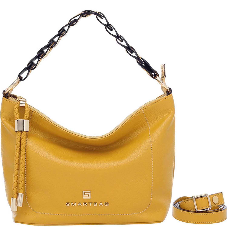 f7b4bc140 Bolsa Smartbag Couro Amarelo Tiracolo - 73174.18. Previous. Loading zoom ·  Loading zoom