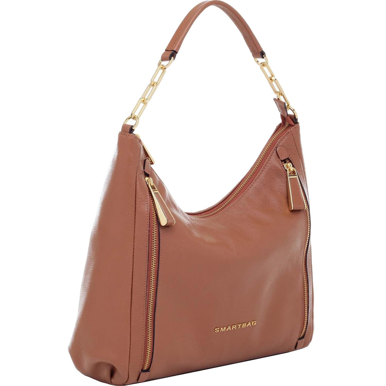 87406b6c0e Bolsa Tiracolo Smartbag Couro Caramelo - 73052.18 - Smartbag