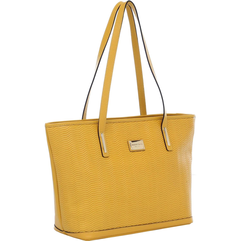 1e80bb25e Bolsa de Couro Tiracolo Vaqueta Ondas Amarelo - Smartbag