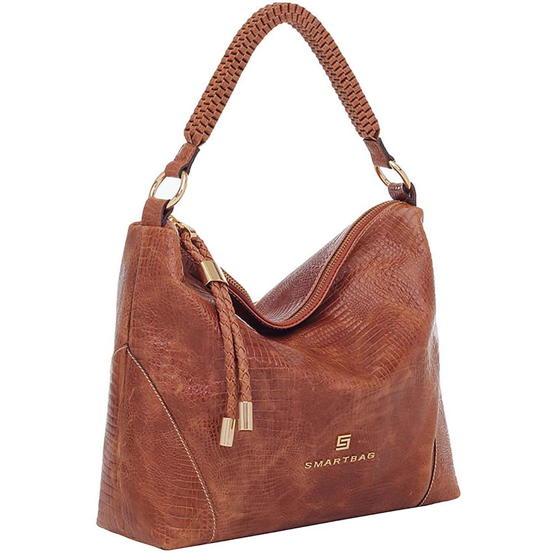 6bc27a28f Bolsa de Couro Tiracolo Lagarto Caramelo - Smartbag