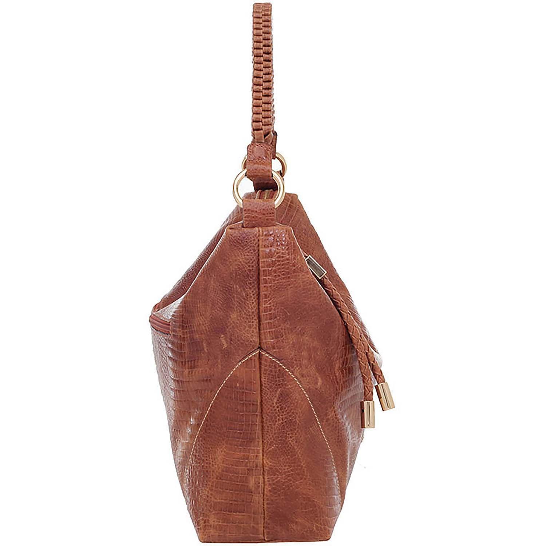 6ca8a785c Bolsa de Couro Tiracolo Lagarto Caramelo - Smartbag