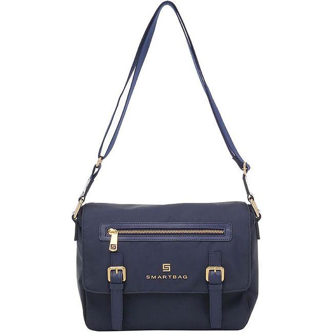 c6949069f Bolsa Transversal Nylon Couro Marinho - Smartbag