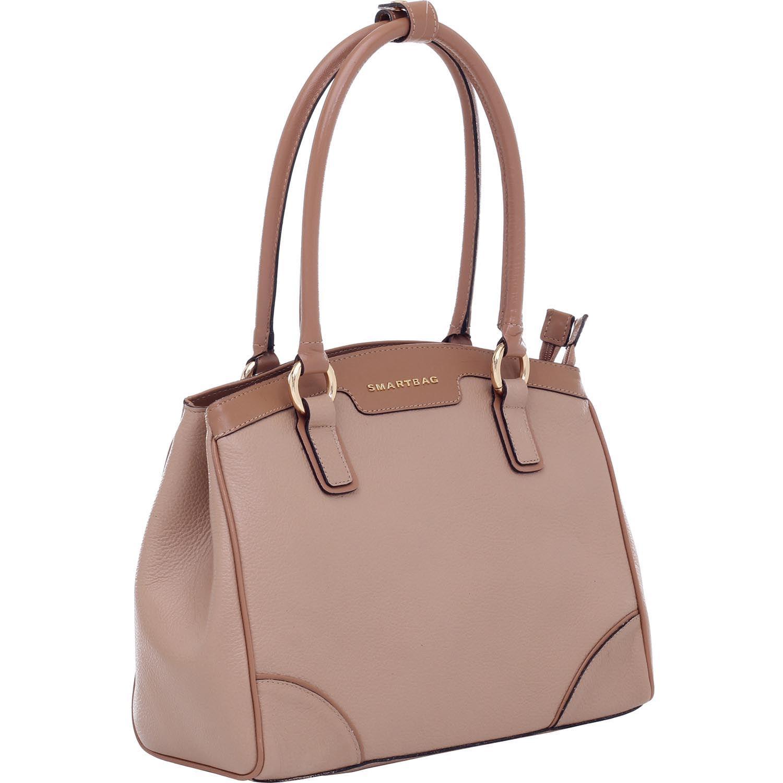 8a1bf1b642 Bolsa de Couro Bege Camel - Smartbag