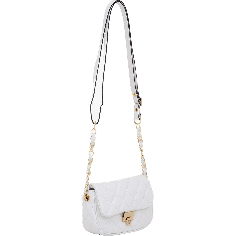 e85aa8a6c Bolsa Transversal pequena Couro Matelasse Branco - 75005.14 - Smartbag